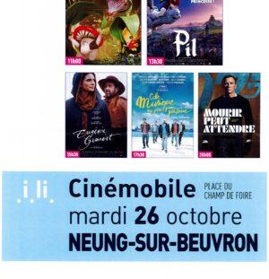 Cinémobile du 26 octobre